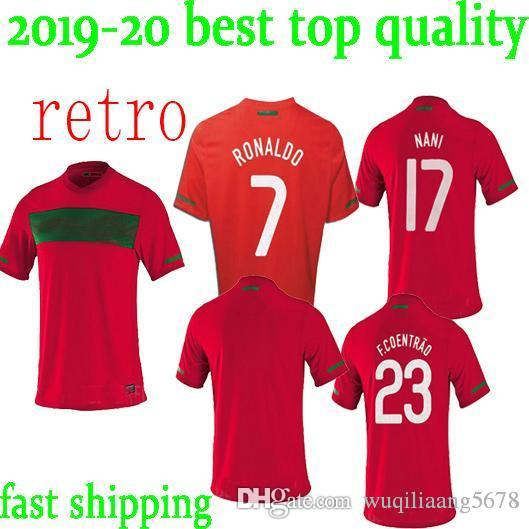 wholesale dealer 19a5b c57cc newest 10 11 Portugal home retro soccer jersey 2010 2011 Portugal South  Africa World Cup jersey RONALDO NANI S-XXL retro football shirts