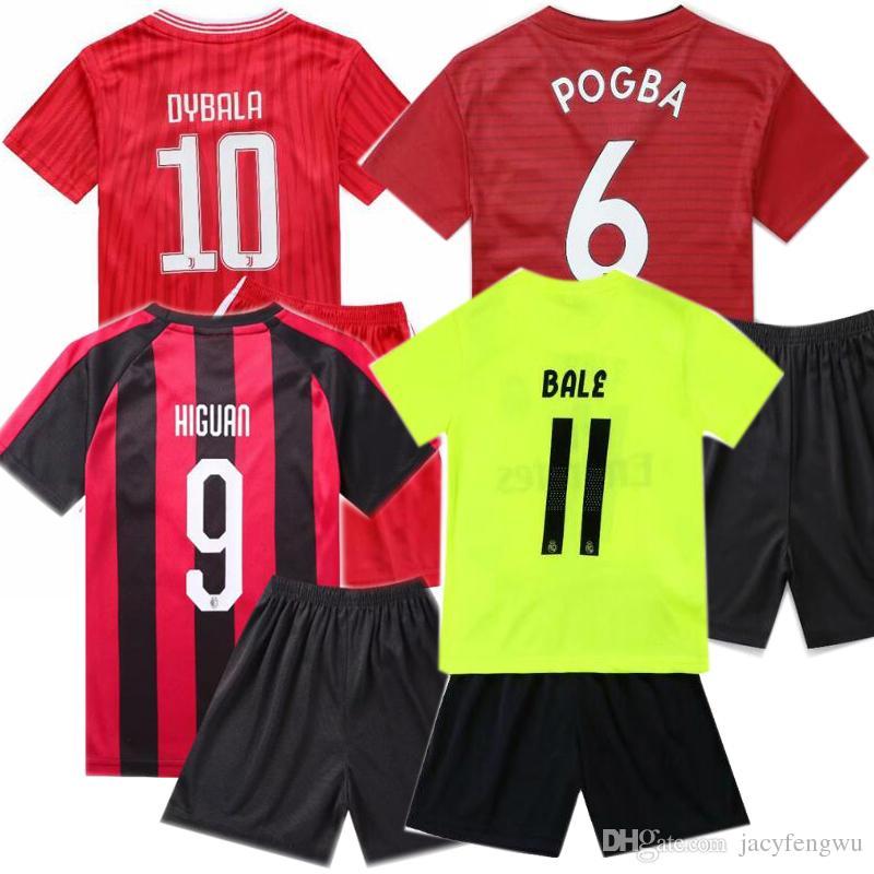 sports shoes b5868 a21dc Kids Football Jerseys Messi Ronaldo Pogba Mbappe Sets France Boys Girls  Sports Kits Children Soccer Jersey TShirts + Shorts 90-160cm XZT035
