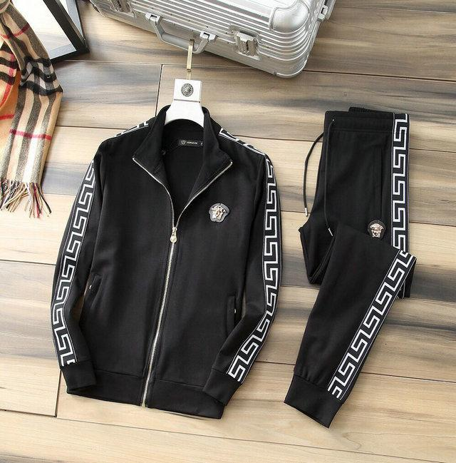f99 Fashion Men Sets hooded tracksuit sweat suits letter Printed Plain male mens sporting sets 0902