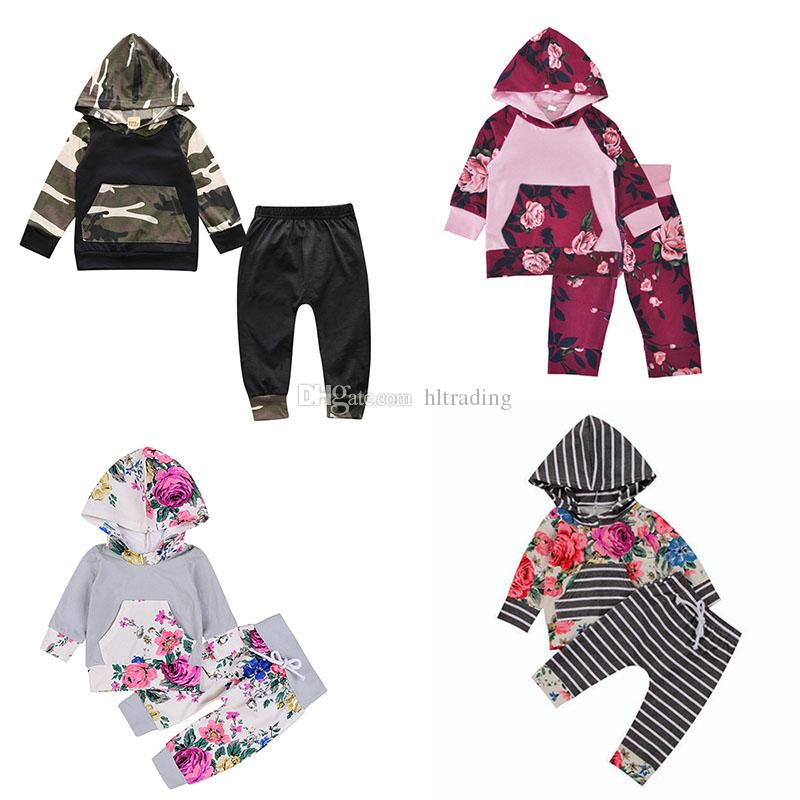 8db61f925a1b 2019 Baby Girls Floral Outfits Children Camouflage Flowers Print Hooded Top+ Pants 2018 New Boutique Kids Clothing Sets C3644 From Hltrading, $31.4 |  DHgate.