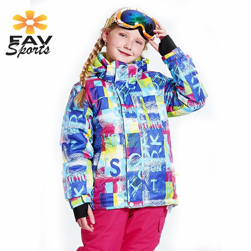 9a363ab9bd63 Profession Kids Ski Suit Outdoor Windproof Thermal Coat Girls ...
