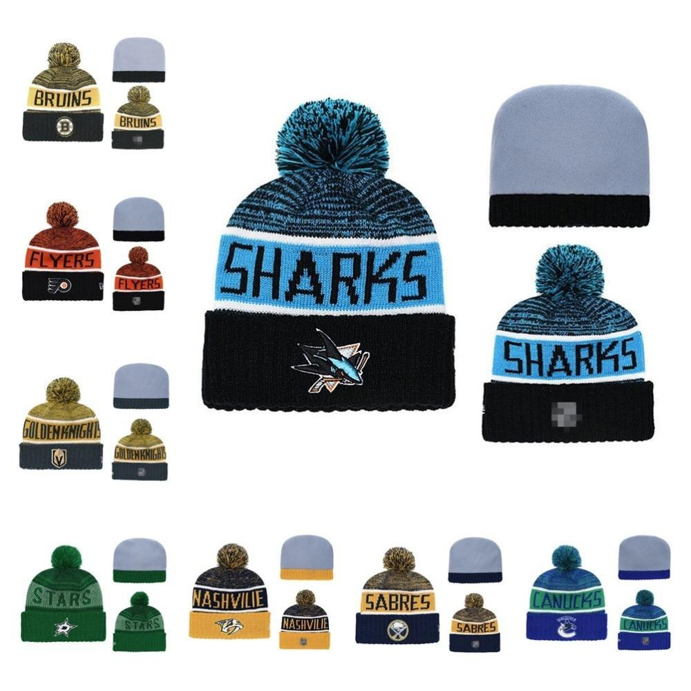 8ed02f128e5 St. Heze Sharks Beanie Hat Wool Winter Warm Knitted Caps And Hats ...