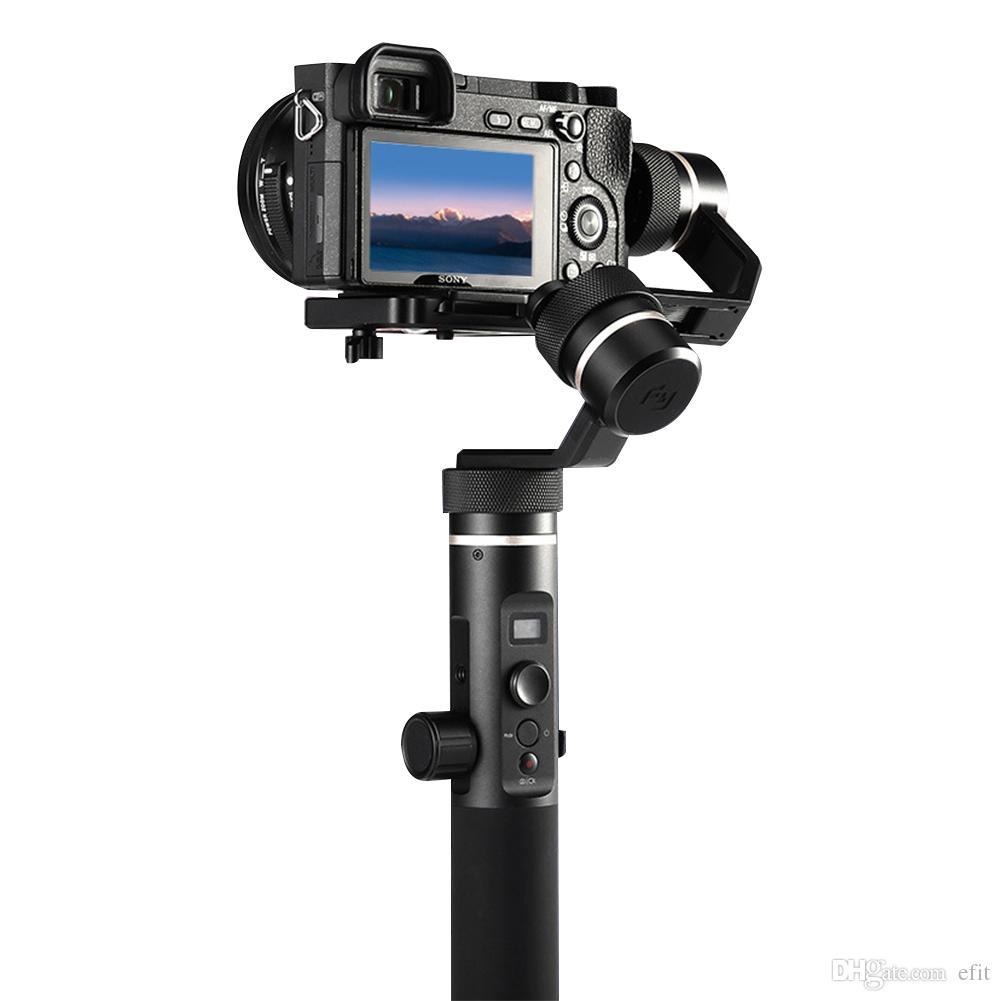 G6 Plus Accessories All Round With Screw 3-Axis Black Durable Splash Proof Handheld Gimbal Portable For Mirroress DSLR Camera