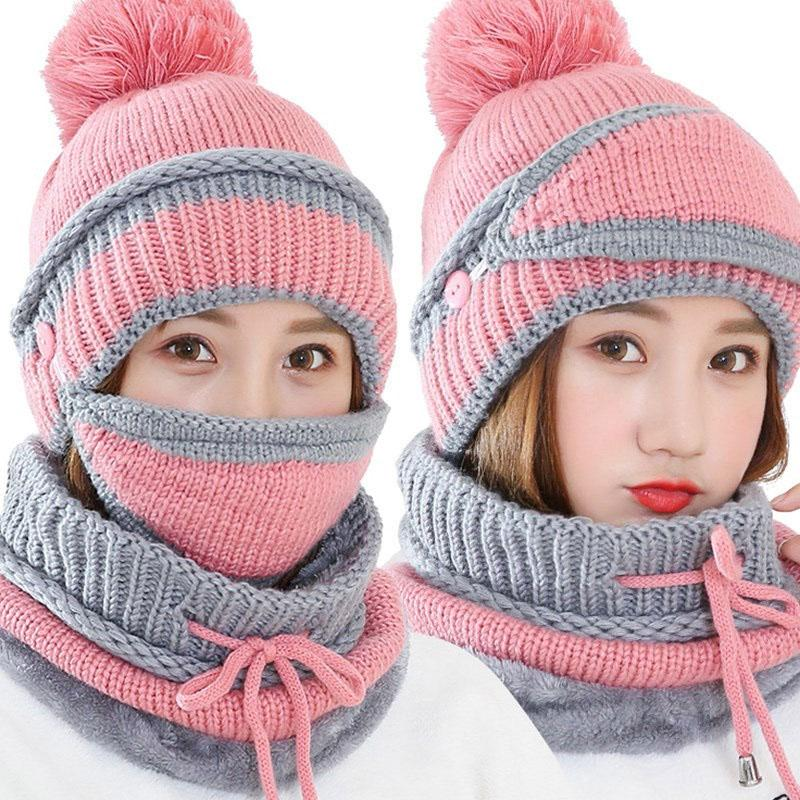 2019 Woman Outdoor Hiking Travel Winter Neck And Face Warmer Sports Hats  Hiking Cap Masks Scarves Neck Protection Knitted Scarf Caps From Cbaoyu 075da0067260