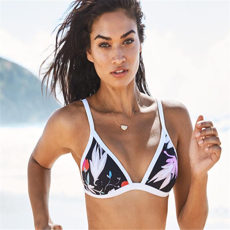 Costumi da bagno donna 2020 di vendita calda d'epoca di stampa Bikini push-up Reggiseno imbottito del costume da bagno del vestito del Beachwear dello Swimwear Biquni
