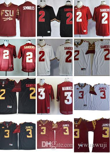 brand new c8cb2 bfca3 Custom NCAA Florida State Seminoles 2 Deion Sanders Jersey College Football  3 Derwin James white red black Deondre Francois