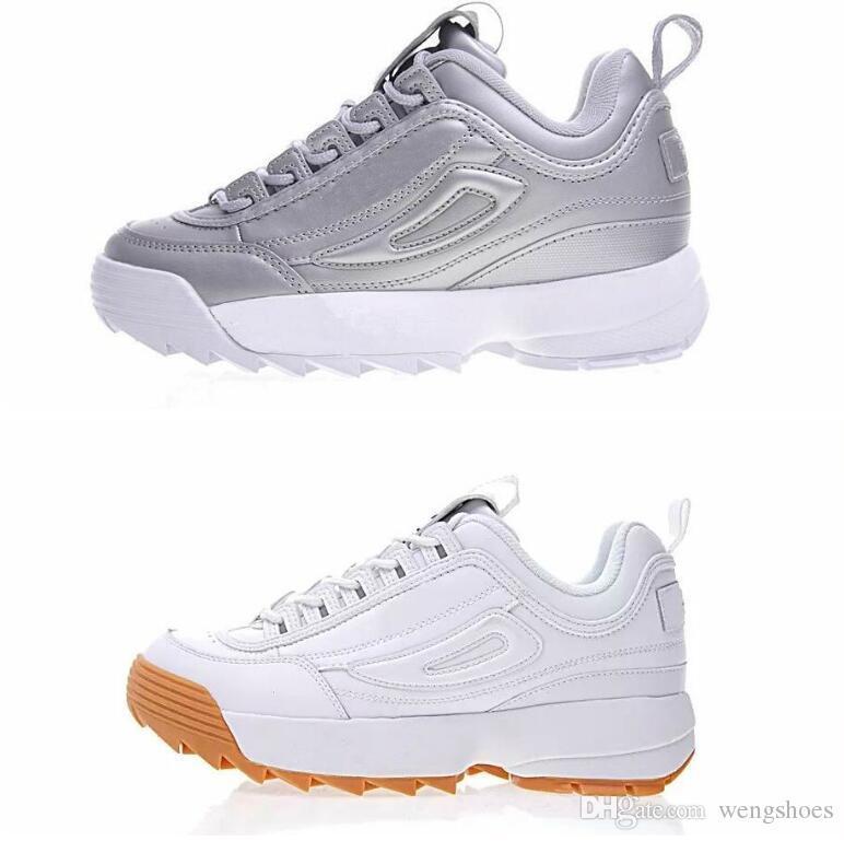 2c8b45349a7 Compre Las Mejores Marcas Para Hombre Zapatillas Zapatillas De Deporte  Femme Nuevo Un Paso Blanco Negro Ray Filas Rosa Moda Hombres Diseñador De  Deportes ...