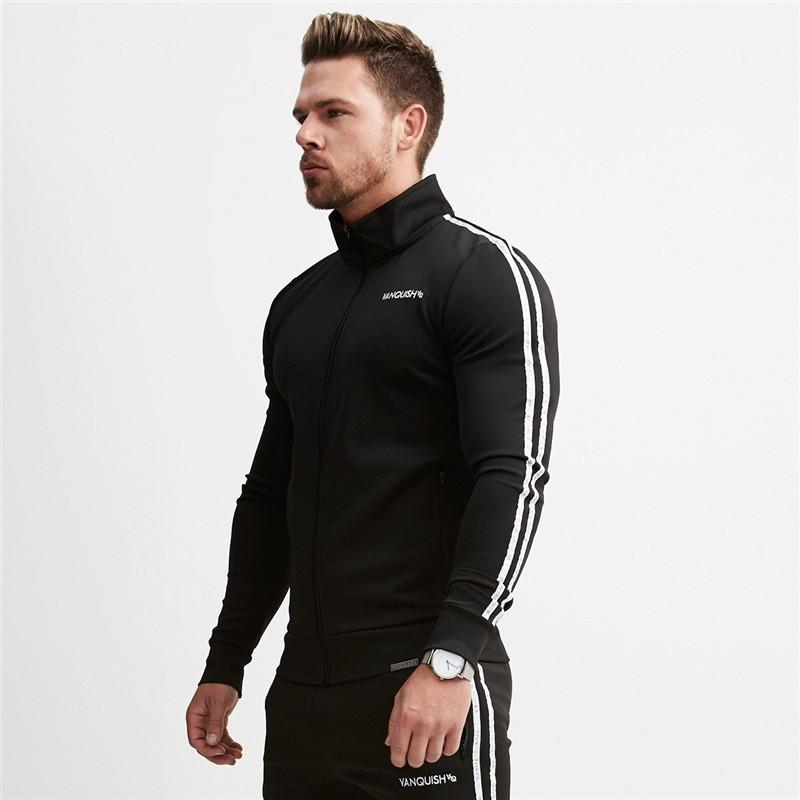 2019 Vanquish Fitness Men Casual Hoodies Fitness Brand Clothing