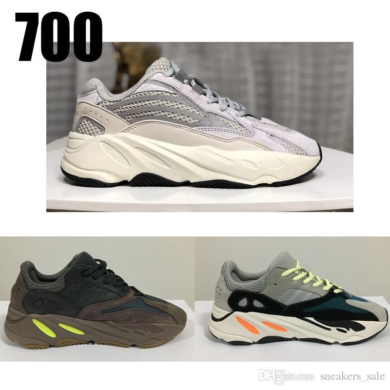 ae916a9c Купить Оптом Adidas Yeezy 700 Shoes Лучшее Качество 700 V2 Статический  Лиловый Сплошной Серый Kanye West Wave Runner Спортивная Кроссовки Дизайнер  Мужчины ...
