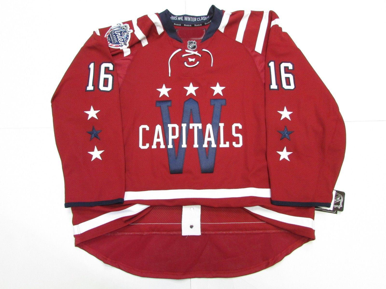 finest selection dcfad 14a91 Cheap custom TRUMP #16 WASHINGTON CAPITALS 2015 WINTER CLASSIC JERSEY  stitch add any number any name Mens Hockey Jersey XS-5XL
