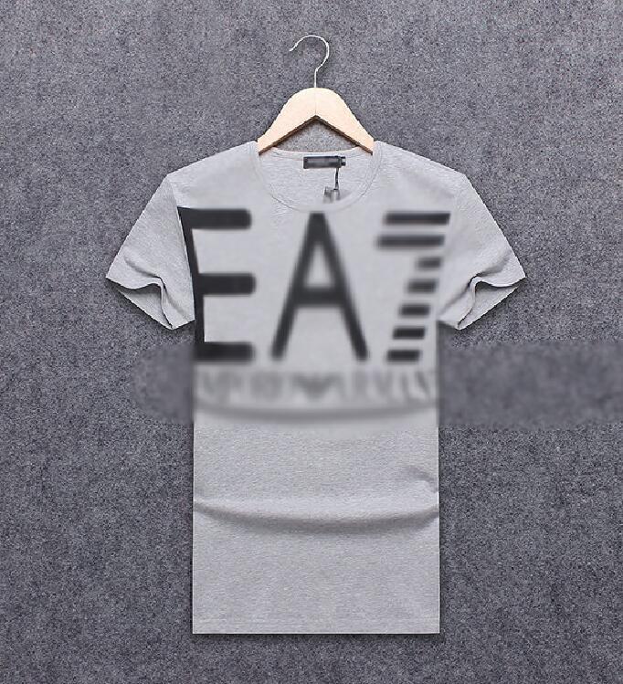 e8bb40449 Compre EA7 Marca Tshirt Mens Designer T Shirt Na Moda Verão Hot T Shirts De  Alta Qualidade Casual Conforto Camisas Explosivo Carta Impressão Tee Moda  Tees ...
