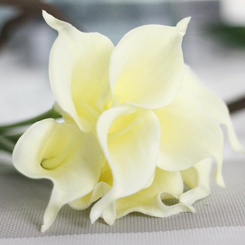 3pcs/lot Calla Artificial Flowers Wedding Decorative Flowers Calla Lily Fake Flowers Birthday Wedding Party Decoration Supplies