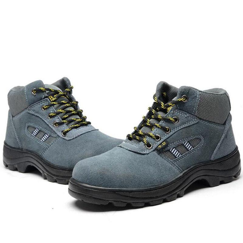 84ee483927ace Compre US6 11 Botines De Trabajo Para Hombre Punta De Acero Suela De  Senderismo Ocasional Antideslizante Laboral Zapatos De Seguridad Unsex Plus  Tamaño A ...