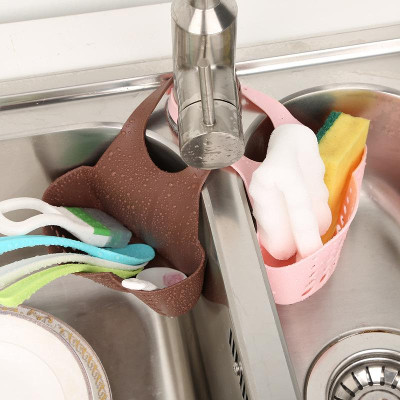 Kitchen Sponge Holder Draining Rack Sink Sponge Bathroom Storage Shelf Sink  Holder Drain Basket