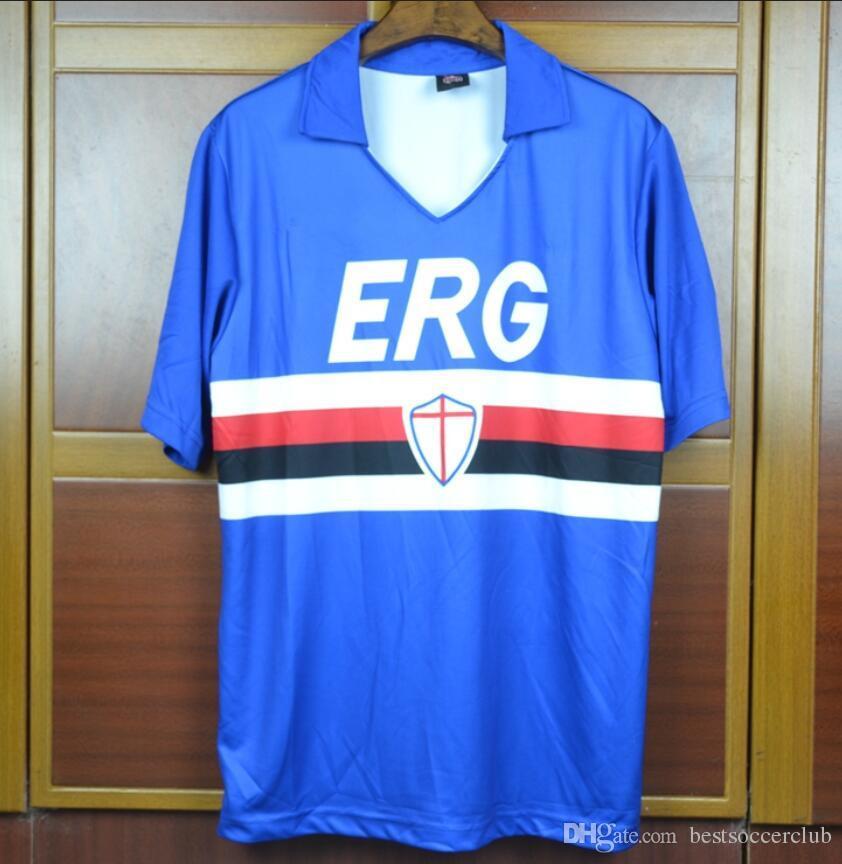 bc6555372b0 2019 90 91 Sampdoria Mancini Retro Soccer Jerseys Short Sleeve Vintage 1990  1991 Villi Football Shirts Italia Calcio MAGLIA Camiseta From  Bestsoccerclub
