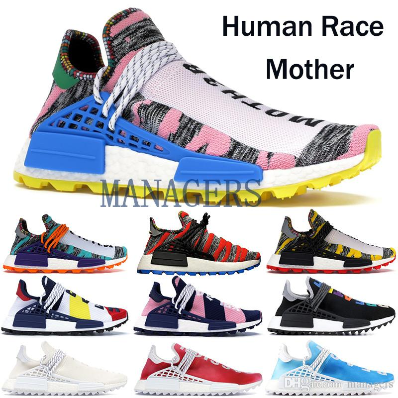 5b2d05490 2019 TOP Quality NMD Human Race Running Shoes Solar Pack BBC NERD Pharrell  Williams Men Women Nobel Ink Oreo Designer Sneakers With Box From Managers