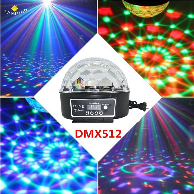 6 Channels Dj Disco Crystal Ball 12w Sound Activated Laser Projector Stage Rgb Lighting Effect Lamp Christmas Ktv Music Party Lights & Lighting