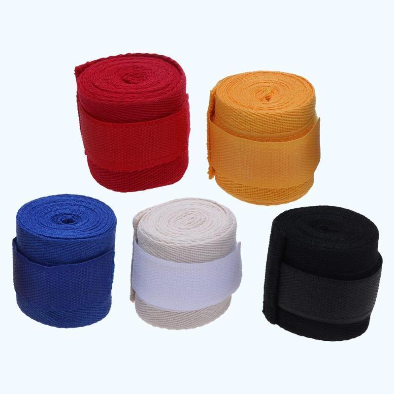 2.5M Cotton kick boxing bandage wrist straps Sport Strap Boxing Bandage Muay MMA Taekwondo Hand Gloves Wraps Hand Protection