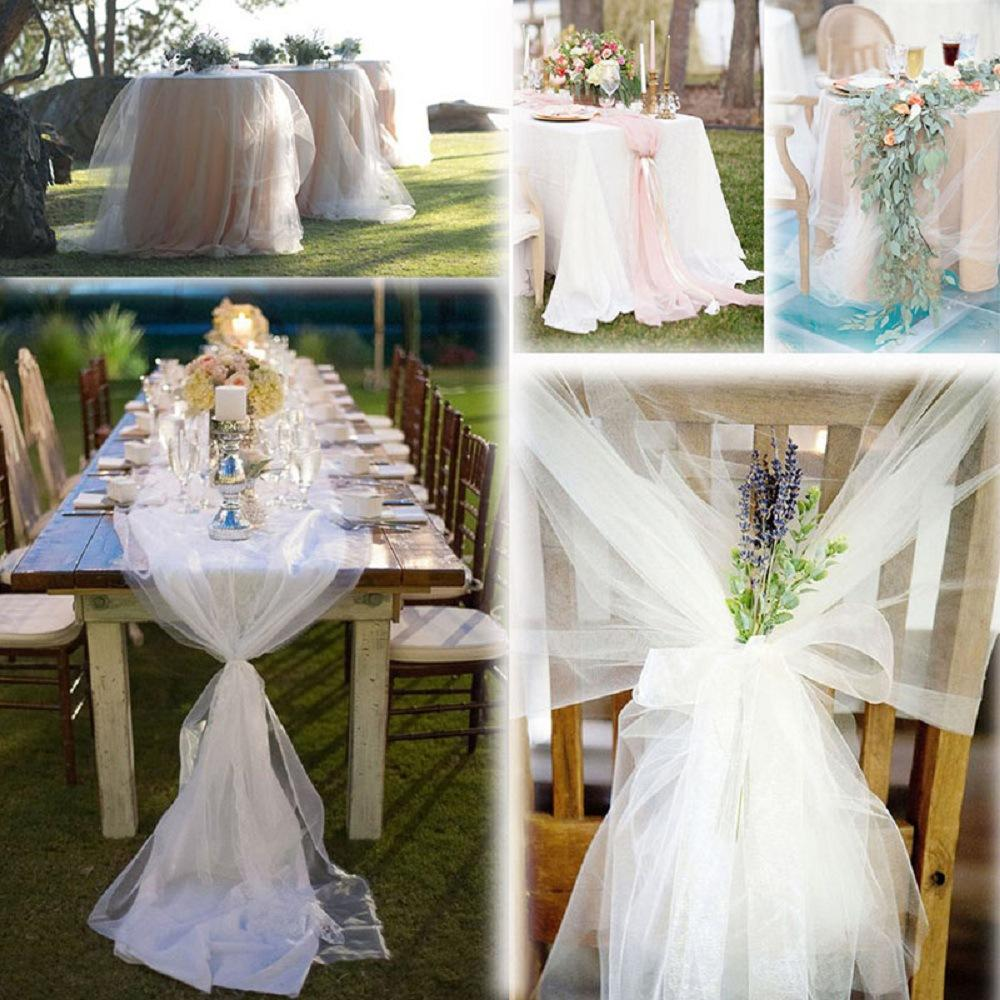 White Tulle Roll Spool Tutu 30cm 25 yards DIY Table Skirt Birthday Wedding Party Decoration Tulle Organza Roll Festive Supplies