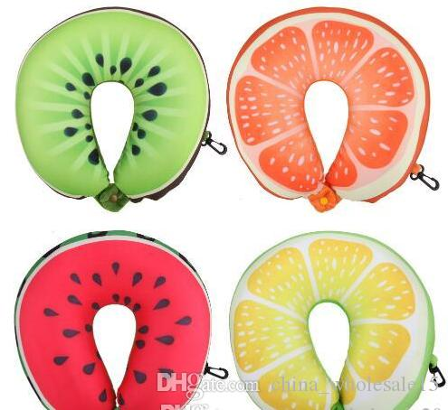 Fruit U Shaped Travel Pillow Nanoparticles Neck Pillow Watermelon