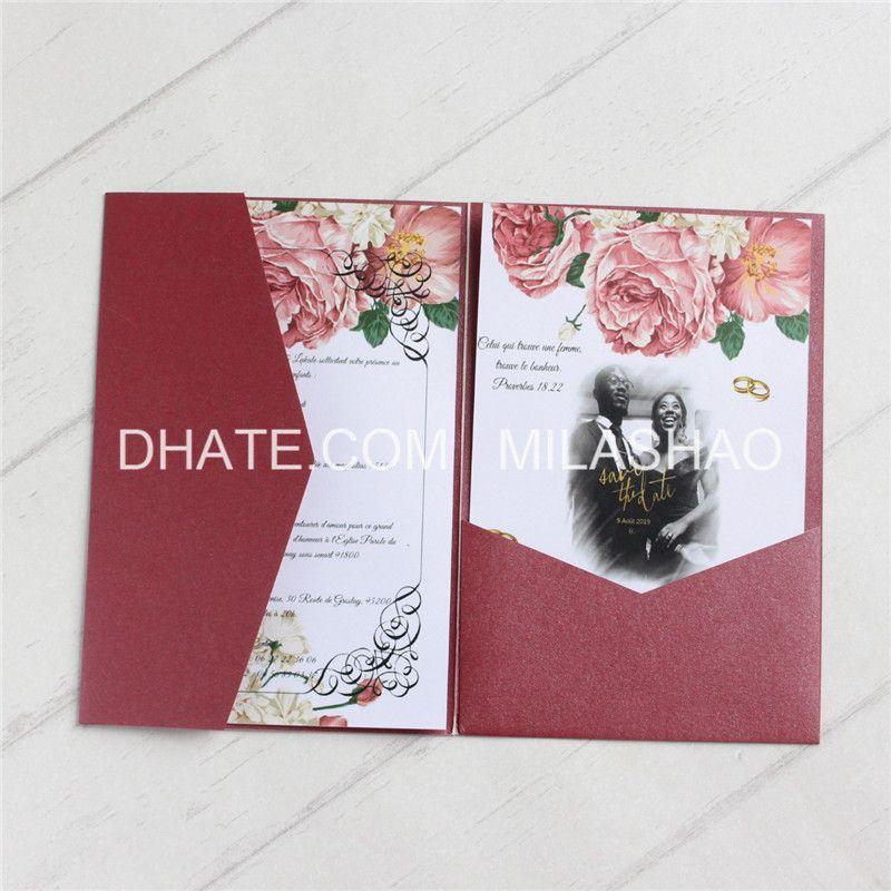 Diy Wedding Invitations Canada: Blank Envelope Invitation Wedding Blue Burgundy White