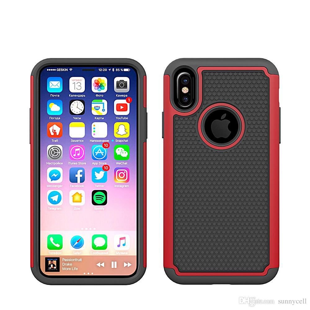 best authentic 0c325 112cb For Iphone 6 7 8 Plus Xr Max Xs X IPod Touch 4 5 6 Shock Absorbing Hybrid  Best Impact Bumper Sturdy Defender Rugged Cover Case