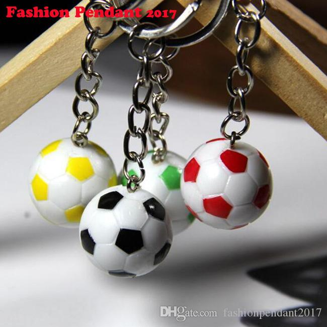 Casual Sporty Style Soccer Football Pvc Keychains For Men Women's Chain Fans Accessories For Bags Pendant Suspension Trinket