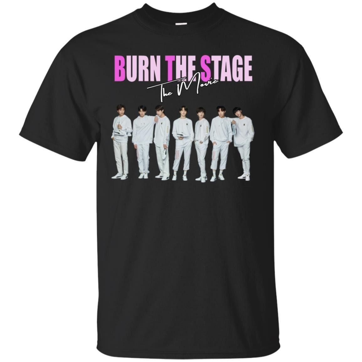 BTS Burn The Stage The Movie T-Shirt BTS Music Tee Shirt Short Sleeve S-5XL