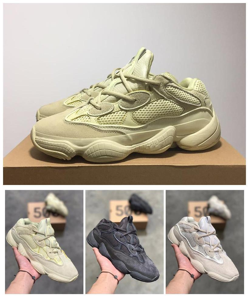 new products d2e08 d41ed 【with box】2019 og High Quality yeezy yeezys yezzy yezzys 500 boost Kanye  West static 3M material Blush super moon yellow utility black Desert Rat  Wave ...