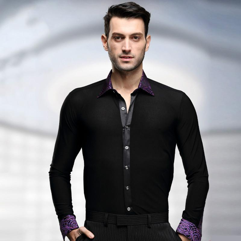 98eadce5b 2019 Men Latin Dance Shirt National Standard Ballroom Modern Tango Samba  Competition Performance Long Sleeved Dancewear Tops Costume From  Pandawomen, ...