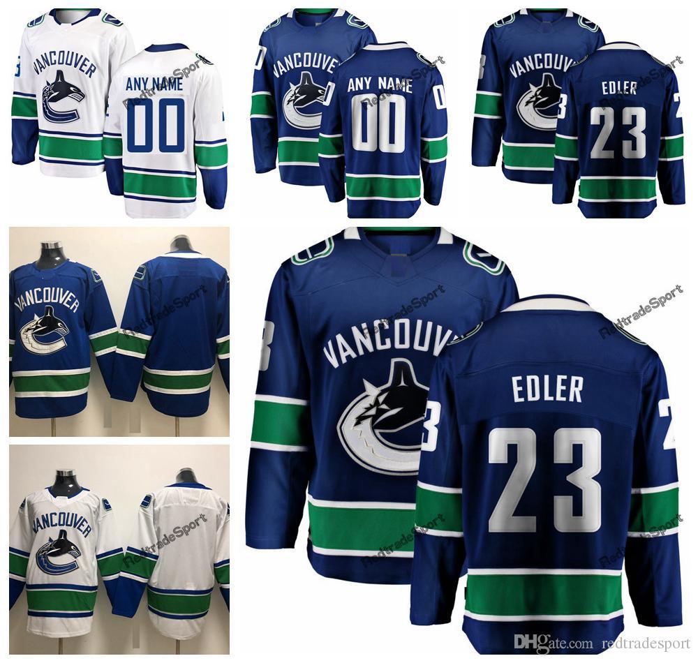 e89f79fa9cf 2019 2019 Alexander Edler Vancouver Canucks Hockey Jerseys Mens Cheap  Custom Name Home Blue  23 Alexander Edler Stitched Hockey Shirt S XXXL From  ...