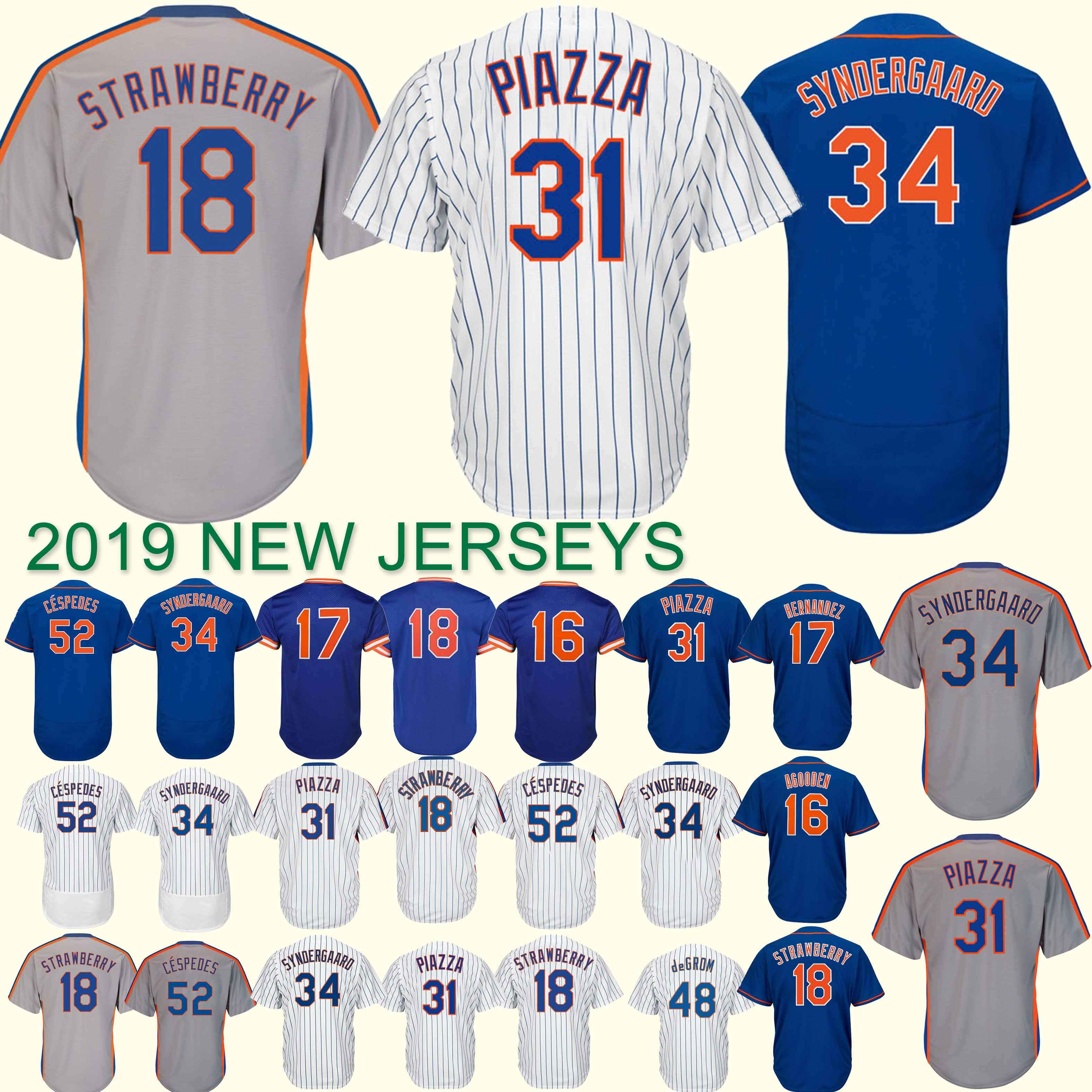 new product b2ec7 91cfe New York jersey Mets 18 Darryl Strawberry #17 Keith Hernandez New 100%  Stitched superior quality Top MEN Jerseys