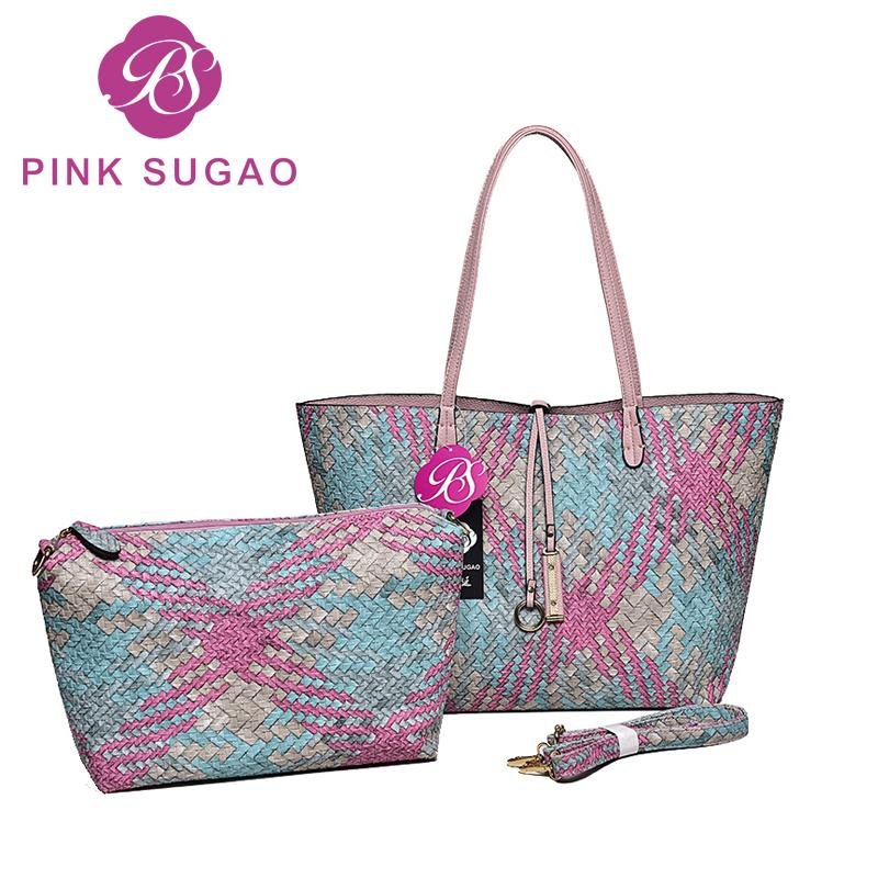 Designer Pink sugao designer handbags women tote bag top quality pu leather handbag fashion bags 6 color messenger crossbody shoulder bag