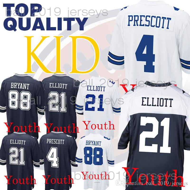 on sale 9c99f 38452 Kids Dallas jerseys Cowboys Dak 4 Prescott Ezekiel 21 Elliott youth Dez 88  Bryant boy clothes
