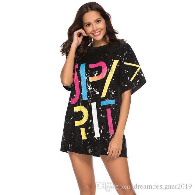 5ee5a1f45c Hot Sale O Neck Women Sequin Dress Half Sleeve Sexy Shirt Dress Women Sexy  Print Casual Vestidos Dresses Online with  25.15 Piece on  Dreamdesigner2019 s ...