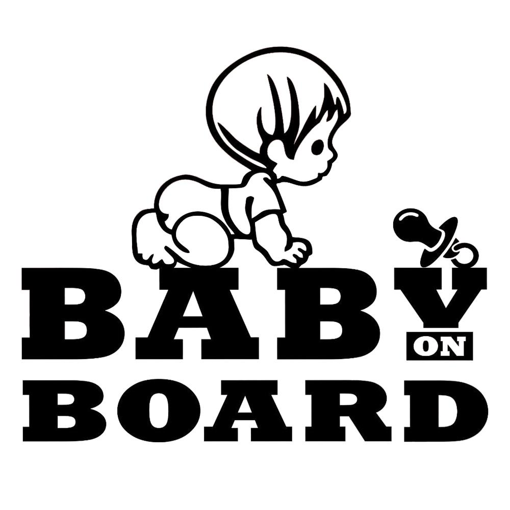 White Babies On Board Baby Car Sticker Sign Safety Vinyl Decal Baby Safety & Health Baby