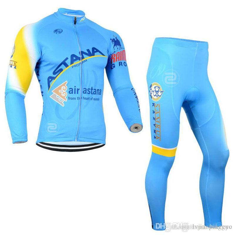 BLANCO BORA Team Cycling Long Sleeves Jersey Bib Pants Sets Mountain ... 205b749a2