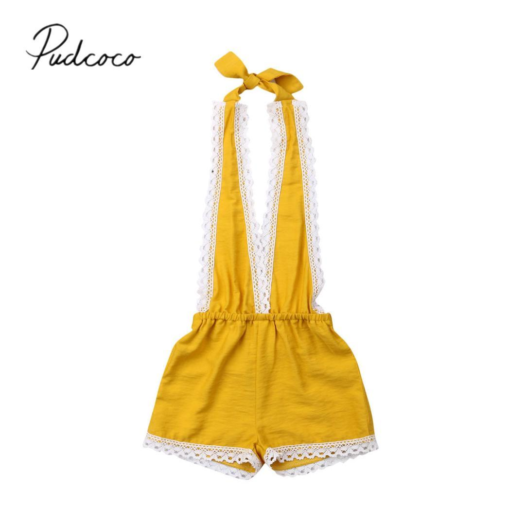 e5c718ed6d310 2019 Baby Summer Clothing 0-3Y Newborn Infant Kids Baby Girls Overall  Rompers Sleeveless Lace Romper Jumpsuit Clothes Outfits