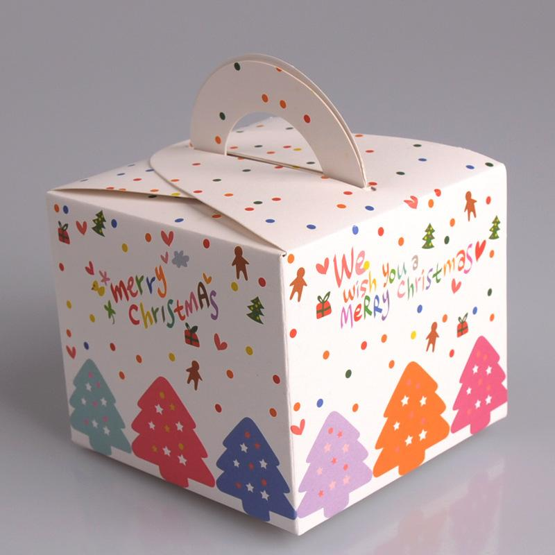 3ea945c52c61 Colorful Christmas Hanging Boxes Merry Christmas Party Cookies Box Printed  Dot Candy Gift Box Parcel Wrapping Paper Personalized Christmas Gift Wrap  From ...