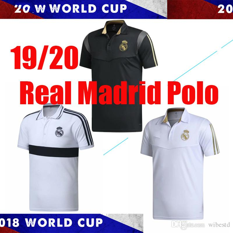 2019 Real Madrid Polo Shirt Soccer Jersey 19/20 camiseta de futbol Real Madrid HAZARD Shirt RAMOS MODRIC ASENSIO ISCO Football POLO Uniforms