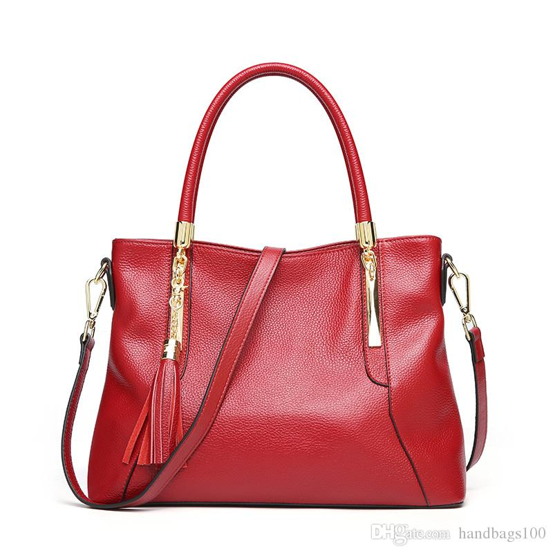 b073cb6ab47 Genuine leather 3 colors famous brand Designer fashion women luxury bags  leather handbags brand bags purse shoulder tote Bag female