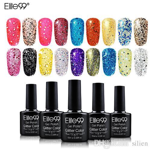 10ml Bling Glitter Nail Gel Polish Easy Soak Off Diamond Nail ...