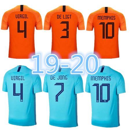 cc6354337 2019 2019 20 Nederland Soccer Jersey Netherlands Home Away Orange MEMPHIS  JERSEY ROBBEN 19 20 Thai Quality V.Persie Dutch Football Shirts From  Mbappe1108, ...