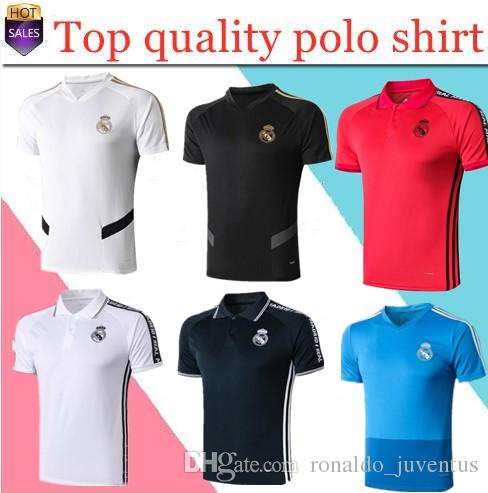 New polo shirt 2018 Real Madrid Soccer Jersey short sleeve training suit 18/19 SERGIO RAMOS BENZEMA MODRIC ISCO BALE soccer polo Shirts
