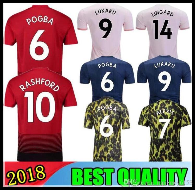 ea2898b1a 18 19 Man United EA Sports POGBA Soccer Jersey 2018 Football Shirt ALEXIS  LINDELOF RASHFORD UTD LUKAKU MARTIAL JERSEY Adults And Kids UK 2019 From ...