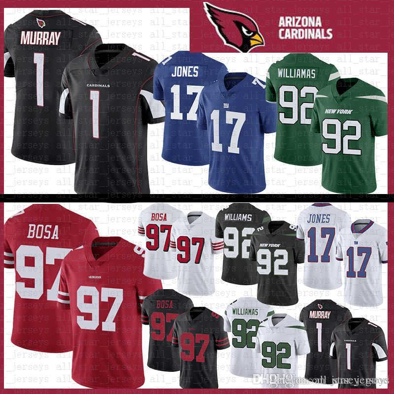 2019 Cheap Arizona 1 Kyler Murray Cardinals Jersey 97 Nick Bosa 17  free shipping