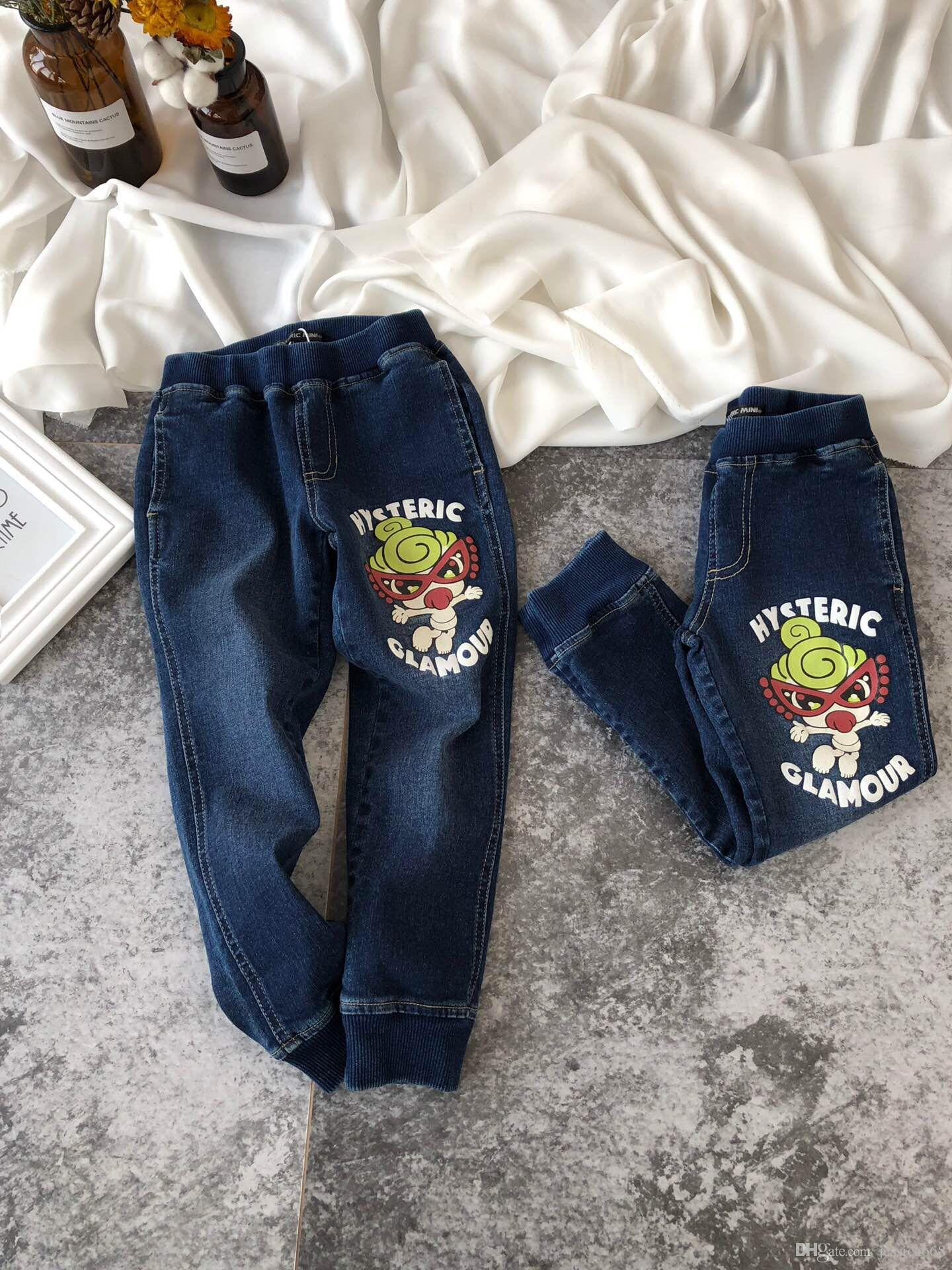 0acd23cb4 Girls Jeans Autumn Spring Baby Boys Jeans Pants Kids Clothes Cotton ...