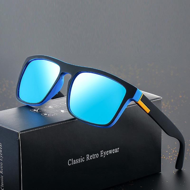 d8ca471c4 Sports Polarized Sunglasses Men Square Outdoors Coating Mirror Brand ...
