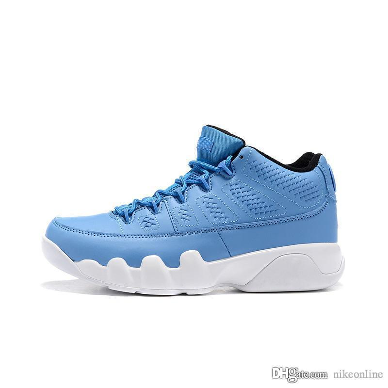 quality design bd036 d4eaf Cheap mens Jumpman 9 IX low basketball shoes 9s Pantone UNC Blue Phantom  Bright Mango Pure Money Chrome Bred Space Jam AJ9 sneakers with box