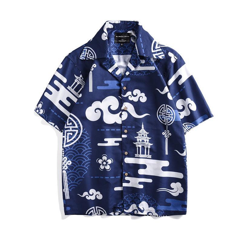 5ed067cc 2019 2019 Floral Print Hawaiian Shirt Casual Tropical Beach Shirts Men  Summer Vintage Short Sleeve Cotton Shirts Tops Chemise Homme From Bairi, ...